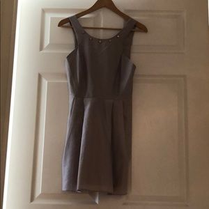 Silver Dress With Rose Gold Studs